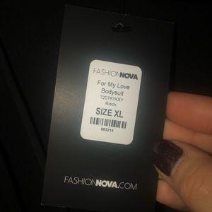 Fashion Nova Tops - Black long sleeve bodysuit